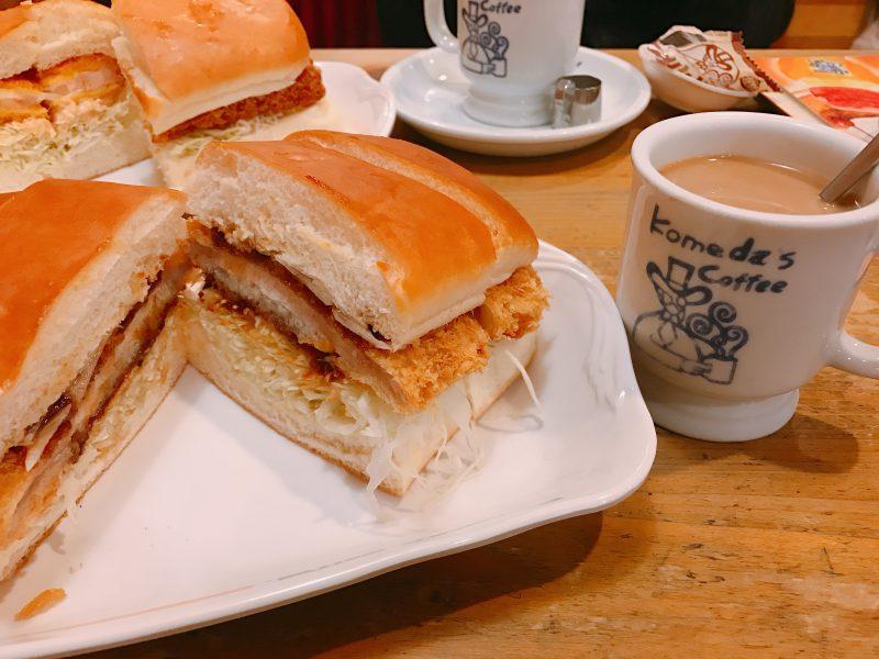 komeda咖啡廳豬排三明治