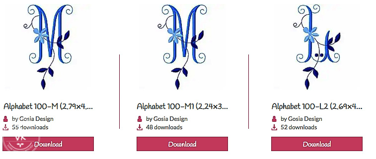 免費英文字母刺繡圖檔下載