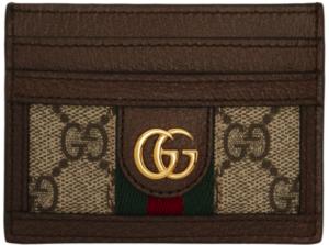 Gucci 驼色 & 棕色 Ophidia GG 卡包