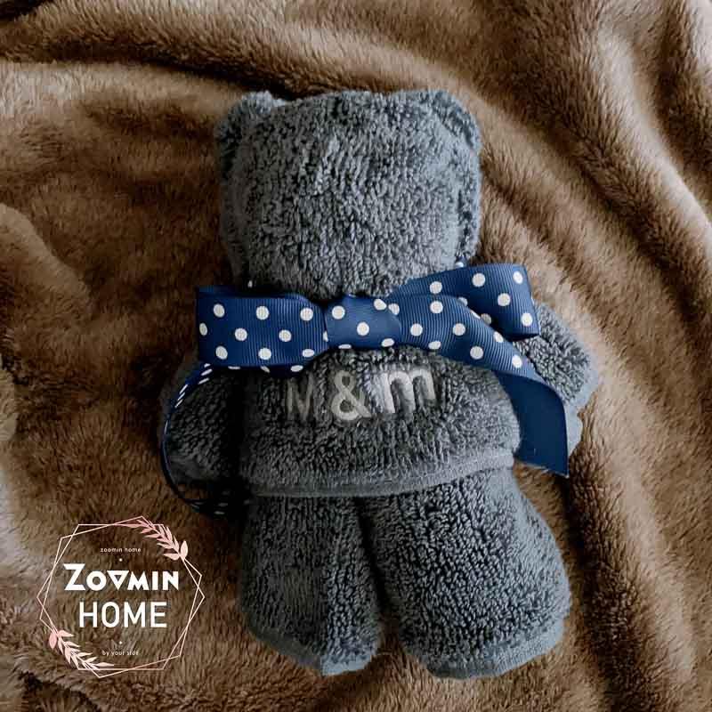 刺繡毛巾熊