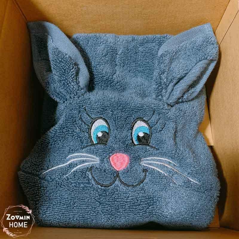 每年四月都會風靡歐美的毛巾兔(可客製化繡上你專屬的名字喔!)