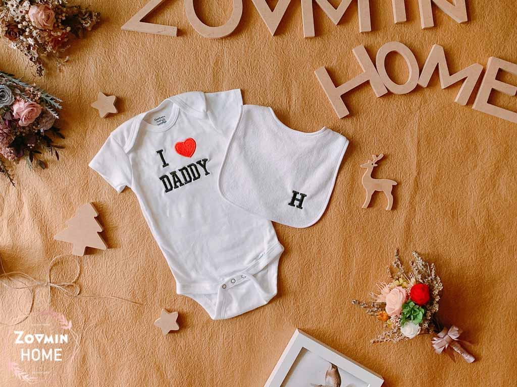 彌月禮送什麼?寶寶客製化商品刺繡包屁衣
