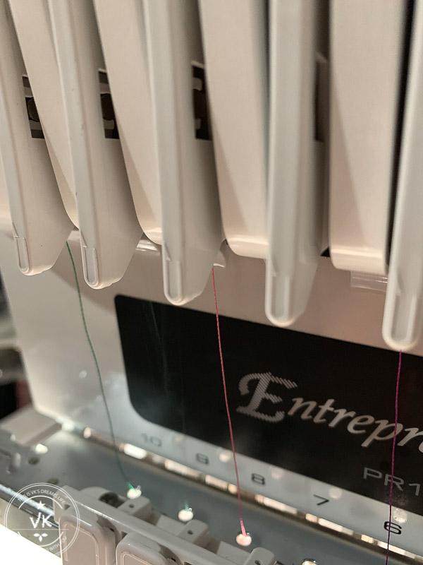商用刺繡機過線壓力彈簧